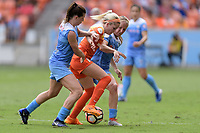 Houston, TX - The Houston Dash defeated the Chicago Red Stars 2-0 on Saturday April 15, 2017: Arin Gilliland, Denise O'Sullivan during a regular season National Women's Soccer League (NWSL) match at BBVA Compass Stadium.