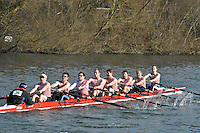 036 IM3.8+ Kingston RC..Reading University Boat Club Head of the River 2012. Eights only. 4.6Km downstream on the Thames form Dreadnaught Reach and Pipers Island, Reading. Saturday 25 February 2012.