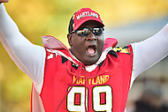 College Park, MD - NOV 12, 2016: Maryland Terrapins 12th Man hypes the crowd during the game between Maryland and Ohio State at Capital One Field at Maryland Stadium in College Park, MD. (Photo by Phil Peters/Media Images International)