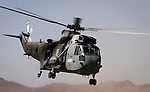 Italian Sikorsky SH 3 E Sea King operating in Afghanistan