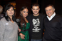 Moscow, Russia, 07/03/2011..Azerbaijani rock singer Emin Agalarov with mother Irina, wife Leila Alieva, daugher of Azerbaijan President Ilkham Aliev, and father Aras. Agalarov has released 5 albums, and his first UK album &quot;Memory&quot; is due for release. He is also the commercial director of the Crocus International company, founded by his father.