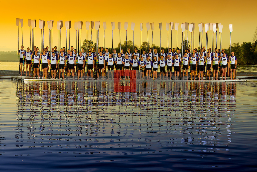 The 2015 University of Washington men's rowing team photo on May 7, 2015. (Photography by Scott Eklund/Red Box Pictures)
