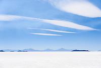 A view of Bolivia's Salar de Uyuni, the world's largest salt flat.