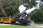 Steam engine locomotive at Roaring Camp Railroad