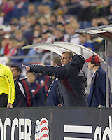 Colorado Rapids coach Gary Smith gives direction. In a Major League Soccer (MLS) match, the New England Revolution tied the Colorado Rapids, 0-0, at Gillette Stadium on May 7, 2011.