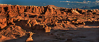 920950005 panoramc view of hoodoo formations in the high desert of goblin valley state park utah united states