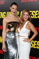 "LOS ANGELES, CA - OCTOBER 8: Gal Gadot, Isla Fisher at the ""Keeping Up with the Joneses"" Red Carpet Event at Twentieth Century Fox Studios in Los Angeles, California on October 8, 2016. Credit: David Edwards/MediaPunch"