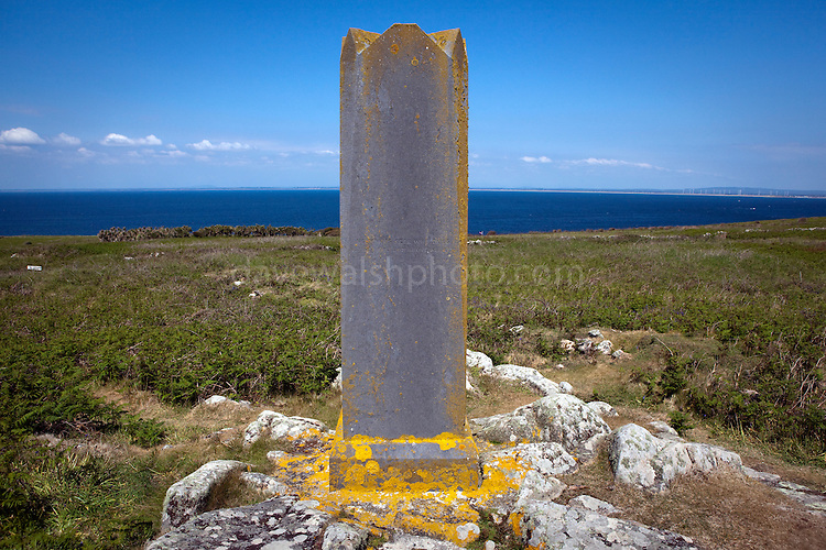 The obelisk of the Prince of the Saltee Islands, on Great Saltee off the coast of Co. Wexford, Ireland. In December 1943 the Saltees were purchased by Michael Neale, who styled himself Prince Michael the First, and entered into a protracted dispute with the Irish authorities over his right to govern and taxes. After his death in January 1998 the islands are were passed on to his five sons Michael - now the prince, John  Manfred, Paul, Richard,  and his daughter Anne.  The island is open to free daily visits for anyone who wants to visit and experience its incredible wildlife. ..Wording on the obelisk:..Nothing is impossible to the man who can, will, then do. .This is the only law of success. This monument was erected by Prince Michael the First as a symbol to all children that by hard work, perseverance, their dreams and ambitions may also be realised...Back: .No man is free who does not set freedom above all else...Left:.No state can be justified in encroachment on the God given .rights of these Saltee Islands...Right: .Let my successors guard and protect these Saltee Islands as a father would his children.