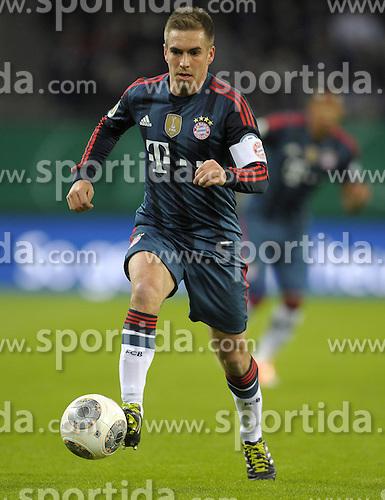 Football: Germany, DFB-Pokal, Hamburger SV - FC Bayern Muenchen, Muenchen, 12.02.2014<br /> Philipp Lahm (Bayern)<br /> &Acirc;&copy;&Acirc;&nbsp;pixathlon