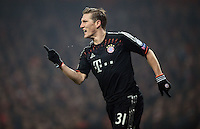 FUSSBALL  CHAMPIONS LEAGUE  ACHTELFINALE  HINSPIEL  2012/2013      FC Arsenal London - FC Bayern Muenchen       19.02.2013 Bastian Schweinsteiger (FC Bayern Muenchen)
