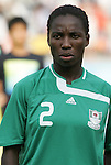 12 August 2008: Efioanwan Ekpo (NGA).  The women's Olympic team of Brazil defeated the women's Olympic soccer team of Nigeria 3-1 at Beijing Workers' Stadium in Beijing, China in a Group F round-robin match in the Women's Olympic Football competition.