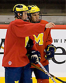 takes part in the Wolverines' morning skate at the Xcel Energy Center in St. Paul, Minnesota, on Friday, October 12, 2007, during the Ice Breaker Invitational.