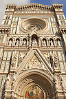 The Dome Cathederal - Detail Of facade  ; Florence Italy