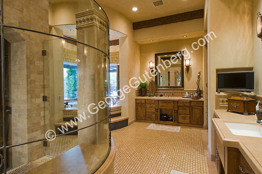 Stock photo of residential bathroom interior design | Stock ...