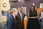 Ohio Attorney General Mike DeWine (Left) visits Ohio University's Women's Center to promote their assault survivor advocacy program. Photo by Ben Siegel/ Ohio University.