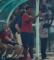 Assistant Coach Gerson Echeverry. Spain defeated the U.S. Under-17 Men National Team  2-1 at Sani Abacha Stadium in Kano, Nigeria on October 26, 2009.