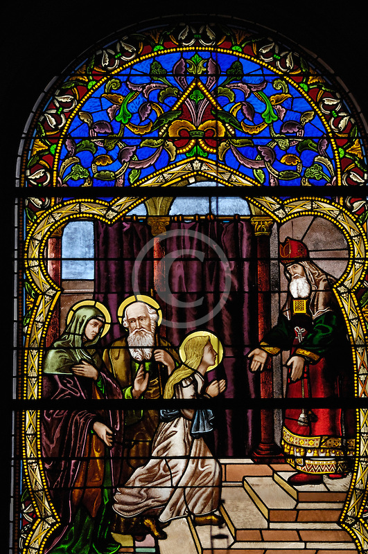 Canada, Montreal, Mount Royal Cemetery Chapel, Stained Glass