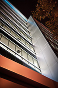 Caresource Building at night: abstract, Dayton Ohio, architectural detail, windows, Up Series