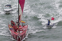 NEW ZEALAND. 11th March 2012. Volvo Ocean Race Leg 4. Leg finish Auckland. Camper with Emirates Team NZ.