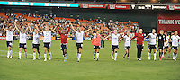 USWNT saluting the fans at the end of the game. The USWNT defeated Mexico 7-0 during an international friendly, at RFK Stadium, Tuesday September 3, 2013.