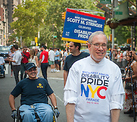 New York City Comptroller Scott Stringer in New York at the First Annual Disability Pride Parade on Sunday, July 12, 2015 celebrating the 25th anniversary of the signing of the Americans With Disabilities Act (ADA).  (© Richard B. Levine)