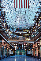 Cleveland: The Arcade, Interior. Peak of glass and iron roof 100 ft. up. Photo '01.