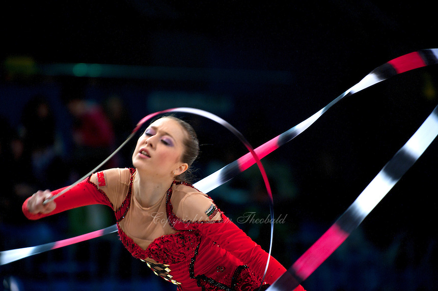 "SILIVIYA MITEVA of Bulgaria performs in Event Finals at 2011 World Cup Kiev, ""Deriugina Cup"" in Kiev, Ukraine on May 8, 2011."