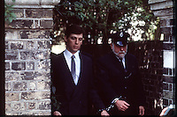 Pix: Copyright Anglia Press Agency/Archived via SWpix.com. The Bamber Killings. August 1985. Murders of Neville and June Bamber, daughter Sheila Caffell and her twin boys. Jeremy Bamber convicted of killings serving life...copyright photograph>>Anglia Press Agency>>07811 267 706>>..Jeremy Bamber leaves court. no date..ref 0005 neg 14...