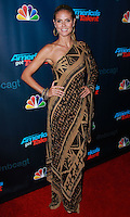 "NEW YORK, NY - SEPTEMBER 18: Heidi Klum attends the ""America's Got Talent"" Season 8 Finale held at Radio City Music Hall on September 18, 2013 in New York City. (Photo by Jeffery Duran/Celebrity Monitor)"