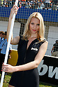 May 2, 2010 - Jerez, Spain  -  A grid girl poses in the paddock prior the Spanish Grand Prix at the Jerez racetrack on May 2, 2010 in Jerez de la Frontera. (Photo Andrew Northcott/Nippon News)
