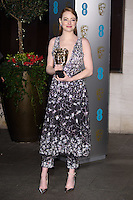 Emma Stone at the 2017 EE British Academy Film Awards (BAFTA) After-Party held at the Grosvenor House Hotel, London, UK. <br /> 12 February  2017<br /> Picture: Steve Vas/Featureflash/SilverHub 0208 004 5359 sales@silverhubmedia.com