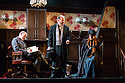 """""""In the Next Room' or """"The Vibrator Play"""" has its UK premiere at the Ustinov Studio Theatre, Bath. Picture shows: Paul Hickey (Dr Givings), Tom Hodgkins (Mr Daldry) and Flora Montgomery (Sabrina Daldry)."""
