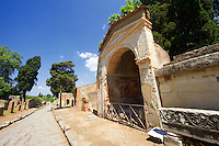 The Roman tombs & mausoleums on the street of Tombs in the Herculaneum cemetry, Pompeii