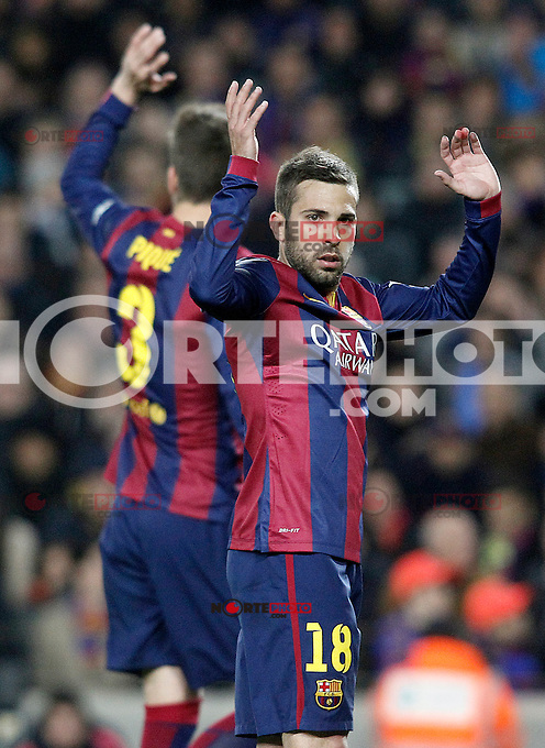 FC Barcelona's Jordi Alba during La Liga match.March 22,2015. (ALTERPHOTOS/Acero) /NORTEphoto.com