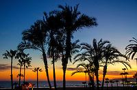 Santa Monica Beach amid the sunet on Monday, April 28, 2014.