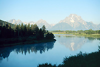 RIVERS - LAKES<br /> Mount Moran Reflected In Lake<br /> Grand Teton National Park