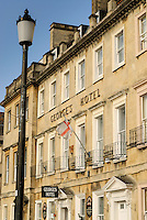 The George's Hotel, Bath, UK, October 24, 2007. The city of Bath is famed for it's hot springs (the only in the UK) and it's Georgian architecture. The city is a UNESCO World Heritage Site.