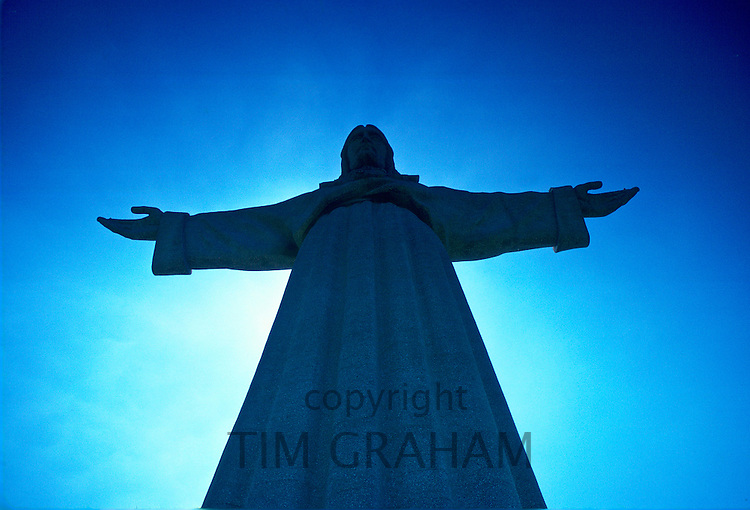 Statue of Christ, Lisbon, Portugal. RESERVED USE - NOT FOR DOWNLOAD -  FOR USE CONTACT TIM GRAHAM