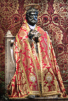 Statue St Peter Basilica St Peter at the Vatican, mess Pope Benedict XVI  Solemnity of St Peter and Paul in St. Peter Basilica at the Vatican,.June 29, 2009..