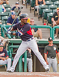 19 March 2015: Atlanta Braves infielder Pedro Ciriaco in Spring Training action against the Miami Marlins at Champion Stadium in the ESPN Wide World of Sports Complex in Kissimmee, Florida. The Braves defeated the Marlins 6-3 in Grapefruit League play. Mandatory Credit: Ed Wolfstein Photo *** RAW (NEF) Image File Available ***