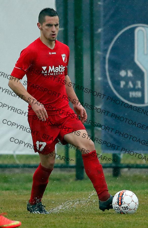 Nemanja Miletic Super liga Srbije, Superliga, fudbal, Rad - Javor (Ivanjica)  Novembar 28. 2015. Beograd, Srbija, 28.11.2015.  (credit image & photo: Pedja Milosavljevic / STARSPORT)