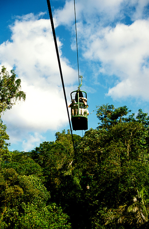Costa Rica: Aerial Tram over Rainforest..Photo copyright Lee Foster, 510/549-2202, lee@fostertravel.com, www.fostertravel.com..Photo #: caribb106
