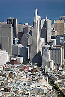 aerial photograph Transamerica pyramid skyscraper San Francisco
