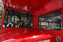 May 5, 2010 - Tokyo, Japan - A woman driver drives a Routemaster bus in Tokyo, Japan on May 5, 2010. The double-decker legend is used during the public holidays called 'Golden Week' as free shuttle between Shibuya and Aoyama for the promotion of the British luxury brand group Vulcanize London.