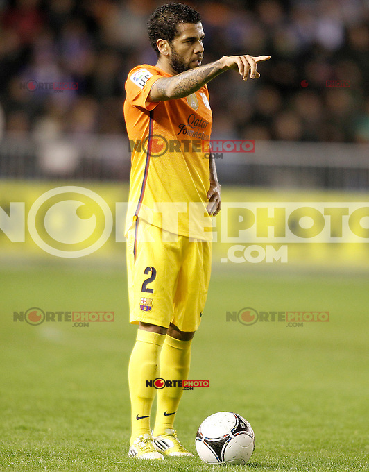 FC Barcelona's Dani Alves during Spanish King's Cup match.October 30,2012. (ALTERPHOTOS/Acero) /NortePhoto
