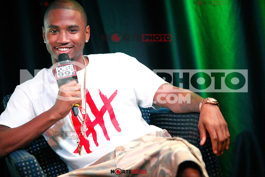 Trey Songz visits POWER 99's iHeart Radio Performance Theater in Bala Cynwyd, Pa on August 22, 2012  &copy; Star Shooter / MediaPunchInc /NortePhoto.com<br />