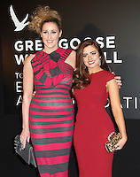 Bronagh Waugh; Rachel Shenton Grey Goose Winter Ball to benefit the Elton John AIDS Foundation, Battersea Evolution, London, UK, 29 October 2011:  Contact: Rich@Piqtured.com +44(0)7941 079620 (Picture by Richard Goldschmidt)