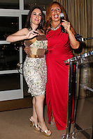 BEVERLY HILLS, CA, USA - MARCH 28: Christina DeRosa, Tina Trozzo at the Versace Unveiling Of The 1st Pop Recording Artist Superhero - KUBA Ka's Performance Outfits. Designed by the legendary fashion hosuse - Donatella Versace. For the Benefit of the Face Forward Foundation (Plastic Surgery for Destroyed Faces from Violence). Pop entertainer TV personality KUBA Ka, together with VERSACE, unveiled Kuba Ka's new Versace images, for the First Pop Artist/Superhero of the World. He has become the inspiration of Donatella's newest and wildest creations and will celebrate the launch of his new power house conglomerate - KUBA Ka Empire Inc. in collaboration with the sensational fashion house - VERSACE on Friday, his birthday at a red carpet media and celebrity event at the luxurious Peninsula Hotel in Beverly Hills held at the Peninsula Hotel on March 28, 2014 in Beverly Hills, California, United States. (Photo by Xavier Collin/Celebrity Monitor)