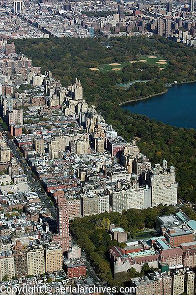 aerial photograph Upper West Side, Harlem, Central Park, Manhattan, New York City