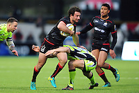 Marcelo Bosch of Saracens takes on the Sale Sharks defence. Aviva Premiership match, between Saracens and Sale Sharks on February 25, 2017 at Allianz Park in London, England. Photo by: Patrick Khachfe / JMP